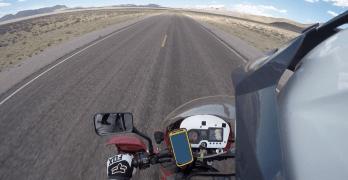 riding across the desert