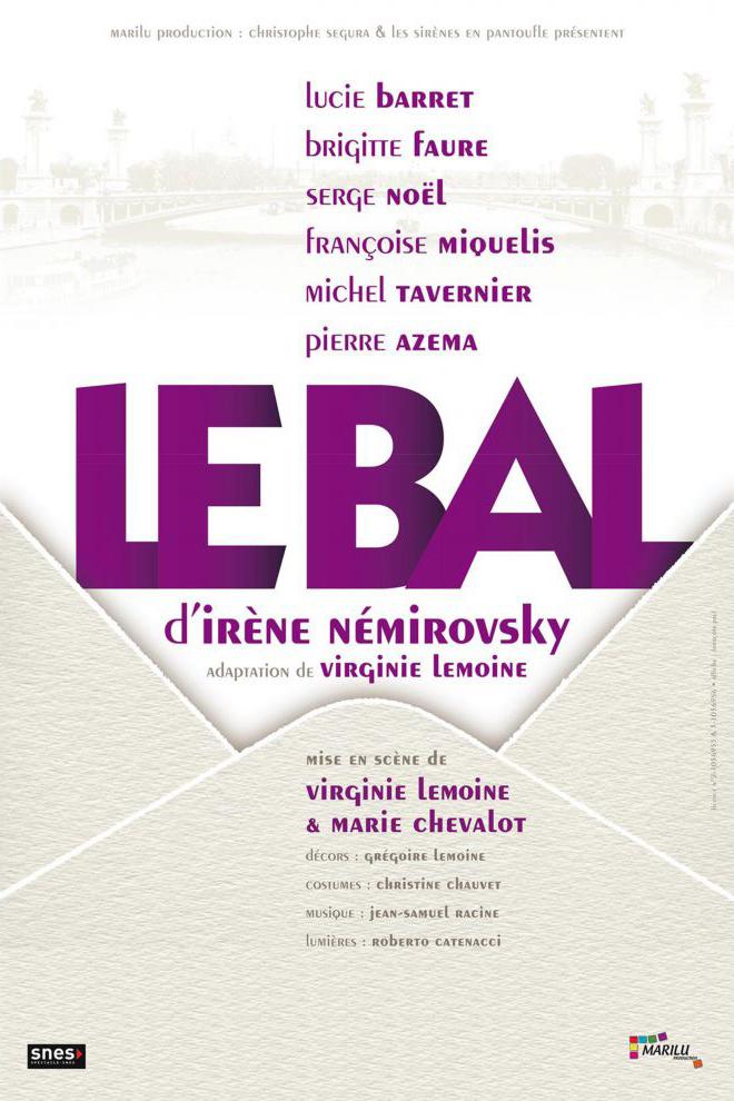 Le bal d Irene Nemirovski-affiche