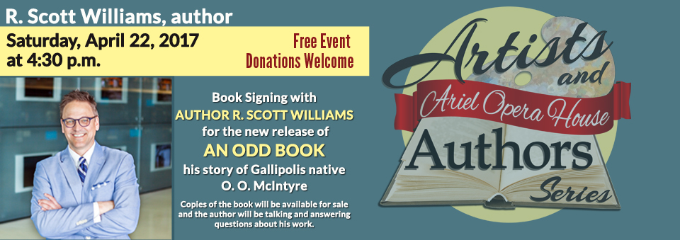 O.O. McIntyre Book Signing with Author R. Scott Williams