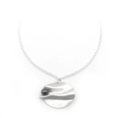 Fold Form Pearl Necklace