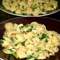 Pasta With Crab Meat and Garlic Recipe
