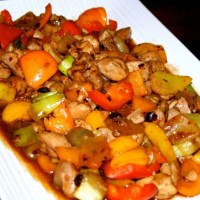 Chicken Capsicum with Black Bean Garlic Sauce Recipe