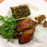 Fried Duck Recipe with Green Chilli Sambal