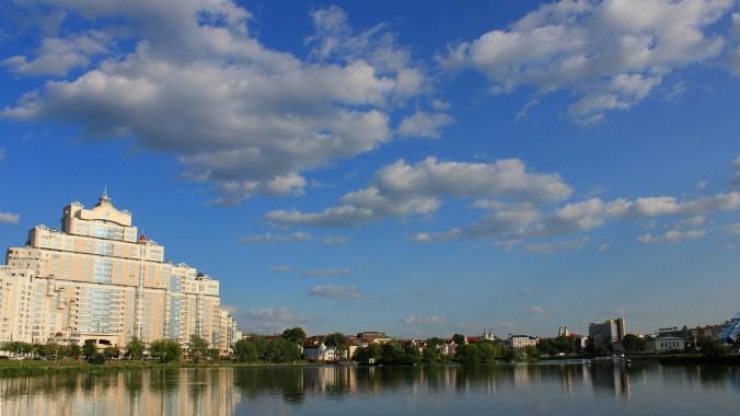 A massive communist era building in Minsk.