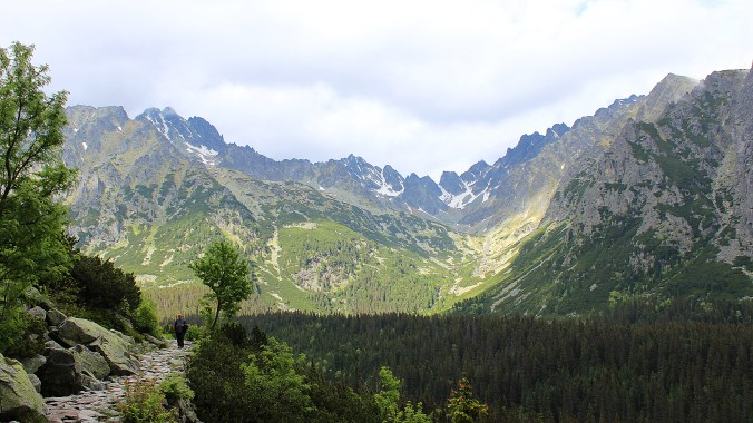View of the High Tatras from a hiking route.