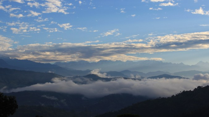 A beautiful sunrise that I saw while staying in Nepalese villages.