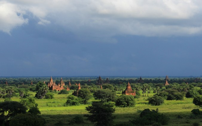 Most pictures of Bagan show several temples in the distance. The temples are often closer than they appear in photos, because some of the buildings are very small, which creates an optical illusion.