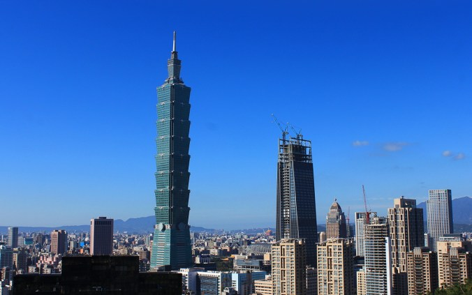 Taipei 101 as seen from Elephant Hill.