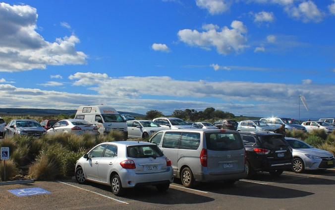 There was very little traffic on the way in May, but the parking area of the Twelve Apostles was nearly full.