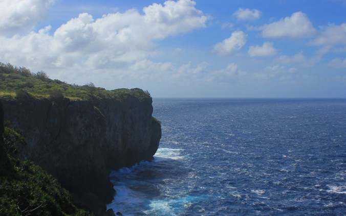 Coastal cliffs near the southern tip of 'Eua island, Tonga.