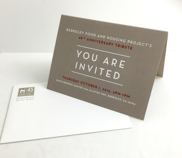 Berkeley Food and Housing Project's gala invite design