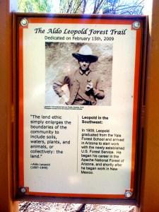 Aldo Leopold Trail sign