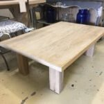 coffee table oak reclaimed wood
