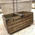 Wooden Vintage Style Boxes crates trugs stencilled