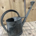 Vintage Galvanised Watering 1 Can from arkvintage.com. This is an original old vintage watering can from France. It holds 8 litres of water and has a rose. Shop and buy now online with fast P&P. See pictures for more detail. Perfectly useable condition, antique old original arkvintage camberley surrey obvious signs of age but we like it like that! Estimated 60-70 years old.