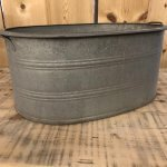Vintage Galvanised Metal Bath from arkvintage.com. shop buy online or in store camberley surrey Original galvanised metal bath from Europe. They make fantastic planters, herb gardens. Love vintage look and patina.