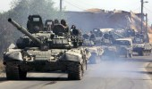 Russian tanks roll on a street in Tskhinvali, Georgia, in 2008.  (Photo: AFP / Viktor Drachev)