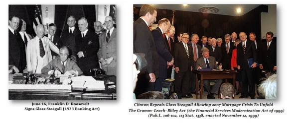 Glass-Steagall Signing-Repeal