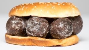Photo of 'donut holes' in a hamburger bun