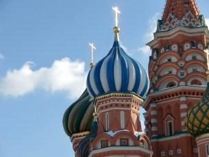 Moskau - Basiliuskathedrale am Roten Platz