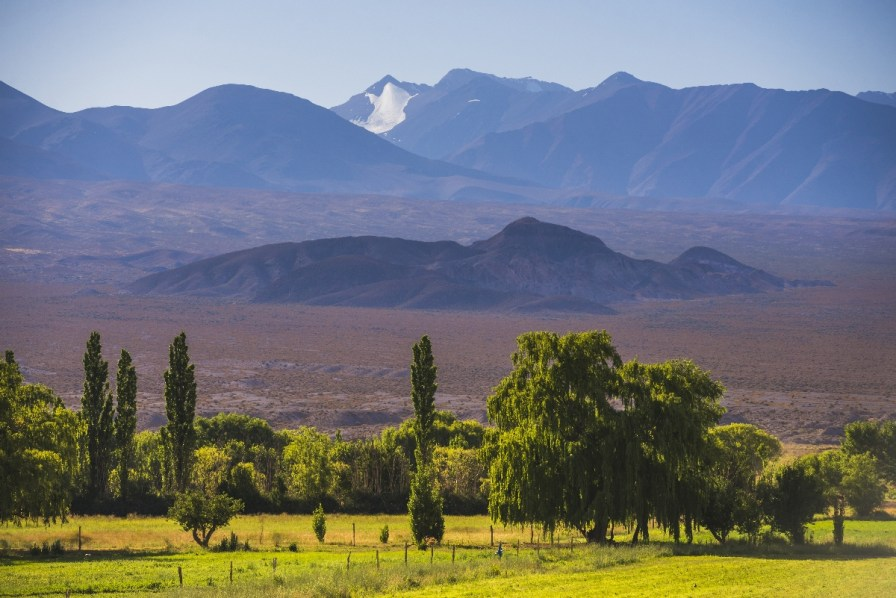 Landscape near San Juan, in the San Juan Province of Argentina