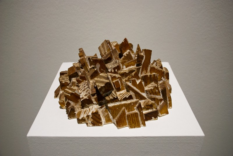 Рельеф №1. 2003-2004. Дерево, резьба. Собственность автора