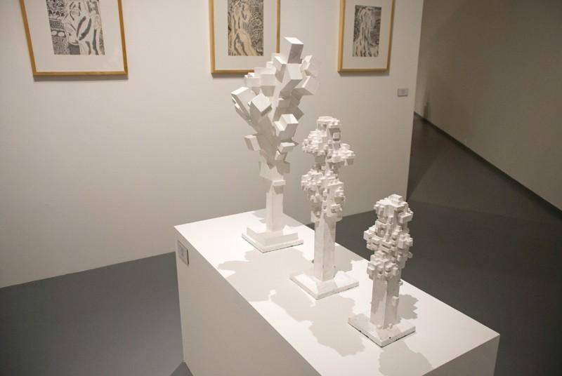 Способы изображения дерева I, II, III. 2012. Дерево, пигмент. Собственность автора