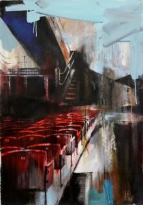 Кинозал, 2010. Холст, масло, акрил