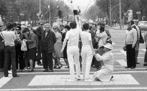 Георгий Галантай, Юлия Кланицай, Джульельмо Акиелле Кавеллини, «Оммаж Вере Мухиной», 1980 // www.artpool.hu