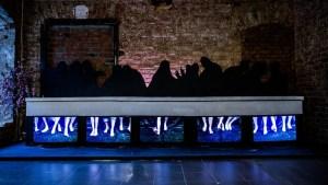 """Сергей Лаушкин """"Смятение"""" на выставке """"На другой стороне"""", 2014. Галерея """"Свитер"""""""