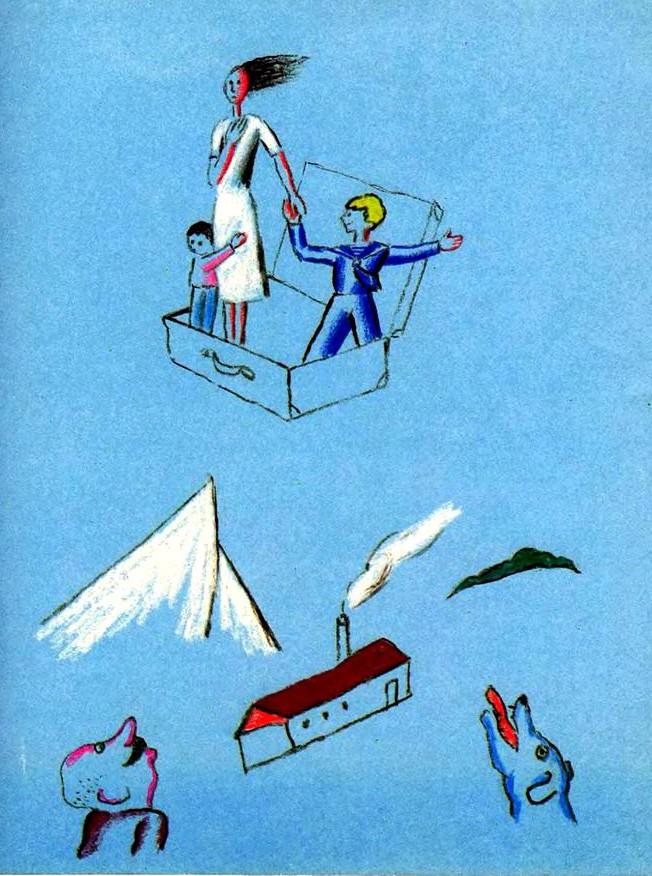 Иллюстрации: Виктор Пивоваров. Корней Чуковский. Тараканище. 1970 // fairyroom.ru