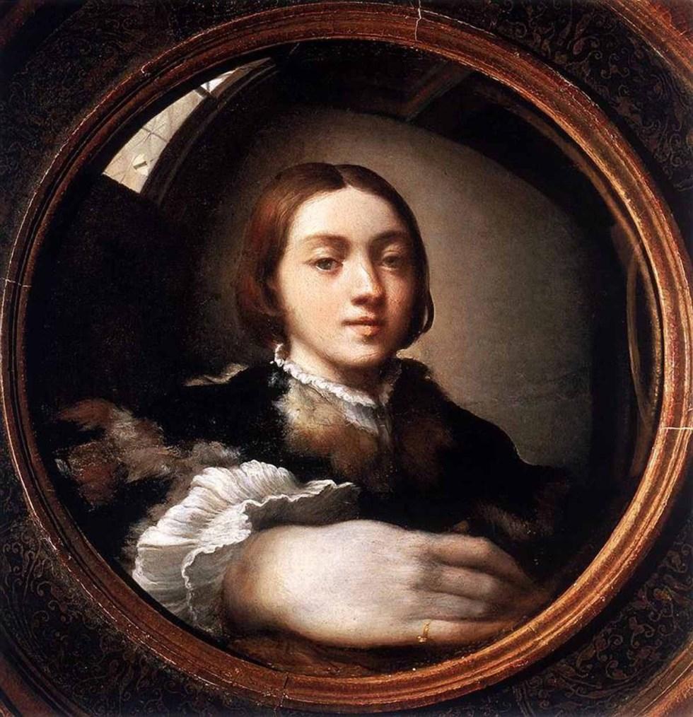 7. Франческо Пармиджанино. Автопортрет в выпуклом зеркале. 1524
