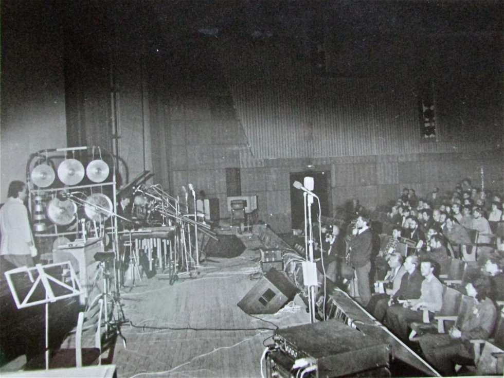 Выступление «Оркестриона» на Международном симпозиуме-фестивале «Золотая долина», Новосибирск, Академгородок, 1988