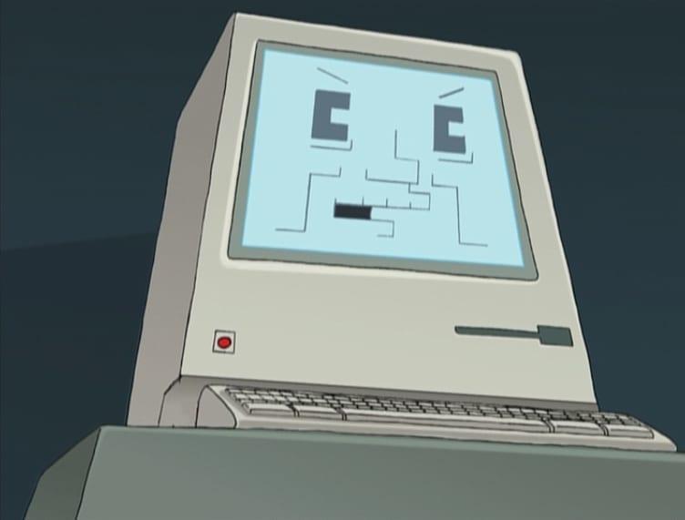 Персонаж Computer Judge из мультсериала Futurama