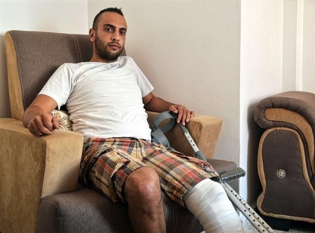 Palestine Mahmoud Palestinian youth Bethlehem leg shooting MEE