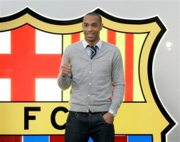 Henry has arrived in Barcelona to sign a four-year deal