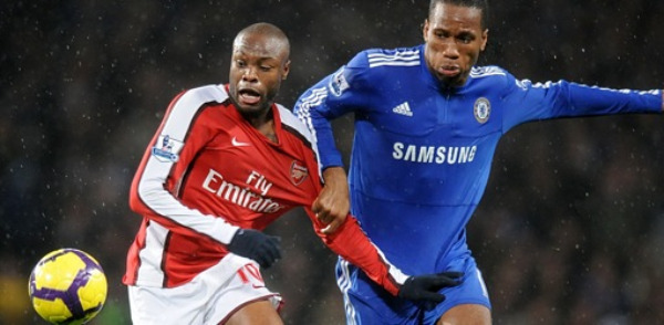 Drogba got the better of Gallas and Vermaelen