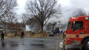 Three people in plane were killed as were three people in the house it hit, a mother and her two young children.