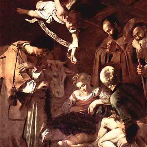 """Караваджо  """"Рождество со святыми Франциском и Лаврентием"""""""