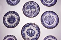 Ceramiche bianche e blu di Delft