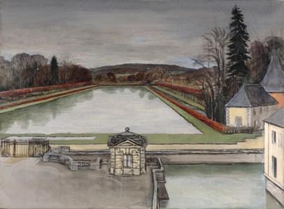 Château chateau du Marais douve pièce d'eau Jean-Claude Fourneau