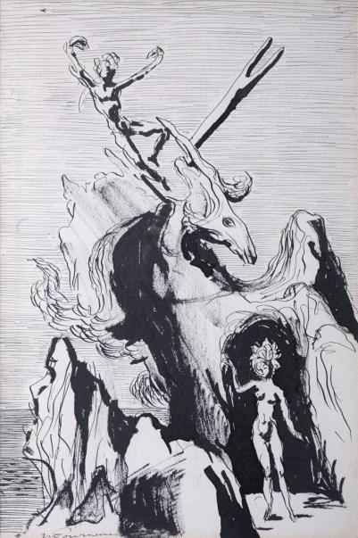 Jean-Claude Fourneau dessin surréalisme