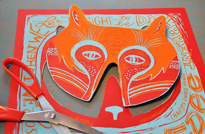 Free Mask - cut out of Free Print