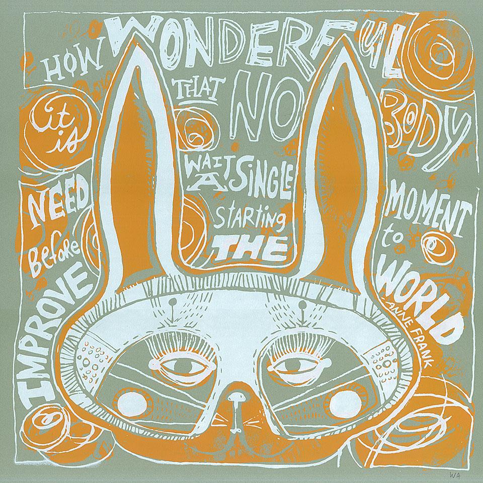 """wonderful"" print/mask"