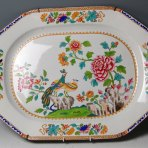 An Early 19th Century English Regency Spode China Platter in the Spode Peacock Pattern, No. 2118, c. 1815.