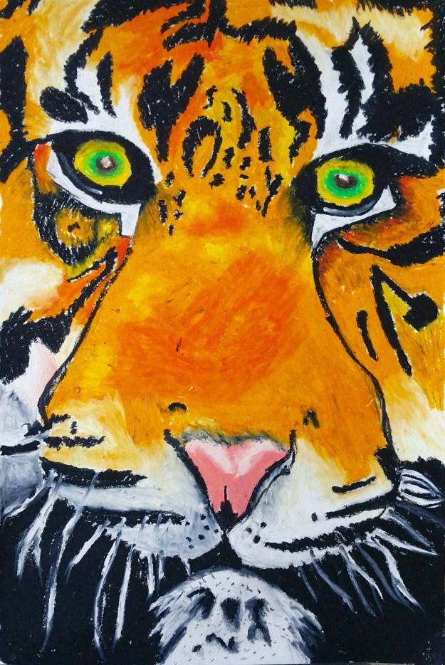 Tiger Oil Pastels