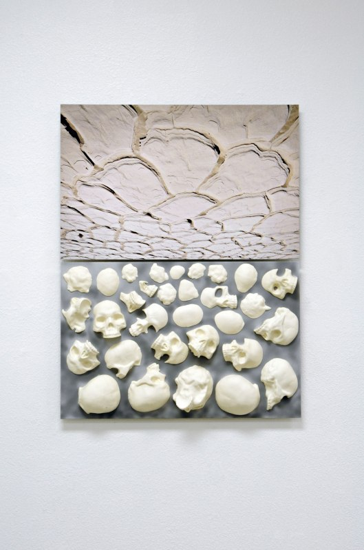 Slip cast and hand-machined ceramic, 40 x 30 x 4""