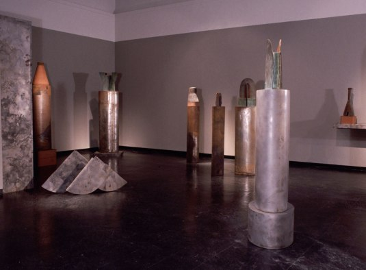installation, University Galleries, University of Florida, Gainesville FL, terracotta, steel, wood
