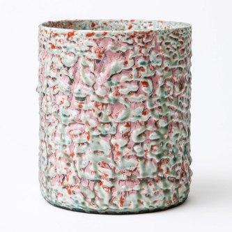 25 h x 21 cm Ø. Stoneware and glazes. From Design Miami 2013 (Pierre Marie Giraud).