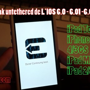 Jailbreak Untethered de l'iOS 6.0, 6.0.1, 6.0.2, 6.1 pour iPhone, iPod Touch, iPad ! 1